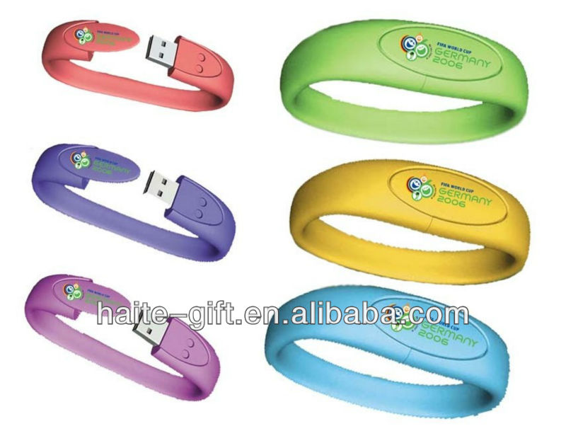 Practical silicon USB wristbands