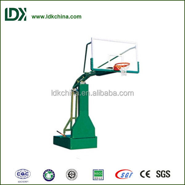 Physical training equipment best portable manual hydraulic basketball stand for sale