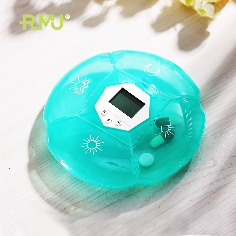 Digital pill box reminder 4 sets pill box alarm timer for health remind