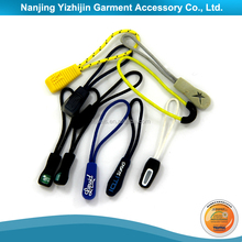 Soft PVC Custom Zipper Puller Logo Attractive Design Elastic Rope