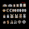 2018 Hot Sale Different Shapes Design Metal Nail Art Rhinestone Gold Silver Alloy Diy Accessories Zircon Nail Art Decorations