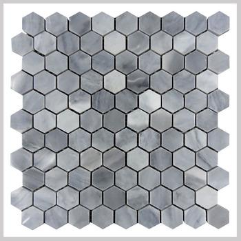 Italië Grijs Marmer Hexagon Mozaïek Badkamer Backsplash Tegel - Buy ...