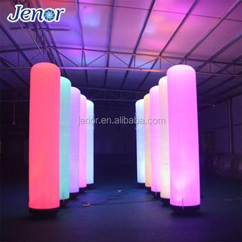 Led Light Inflatable Pillars Column Advertising For