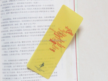 2015 plastic custom shape plastic bookmark