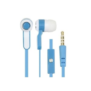 Hot selling stereo earphone with mic, colorful wired earphone with logo printing cheap earbuds with mic