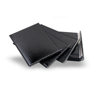 High Quality Black Metallic Poly Bubble Mailer Colored Envelopes Padded Bubble Envelope Bags