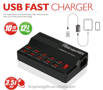Cheap 10 Ports Desktop Usb Charger Docking Station Family Office Dock  Charger Multi Charging Station For Phone And Tablet - Buy 10 Port Usb