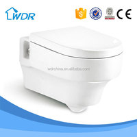 Ceramic bathroom wall mount water closet toilet bowl ceramic