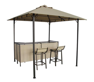 Bar table patio canopy tent BBQ metal gazebo with bar stools
