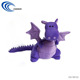 High quality purple cute exquisite beautiful fly dragon plush toys