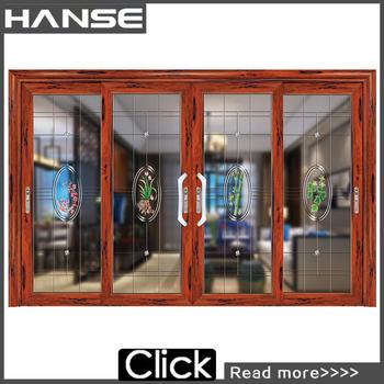 HS 8002 Aluminium Living Room Glass Partition Design