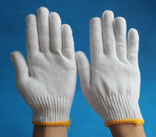 7 gauge 10 gauge safety cotton knitted gloves white cotton hand gloves cotton gloves for industrial