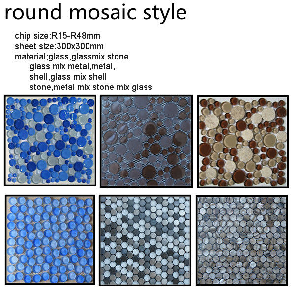 Round Mosaic Decorative Wall Mirror