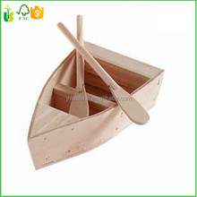 Craft Wood Carving Boat With Oars WOOD MODEL TOY BOAT