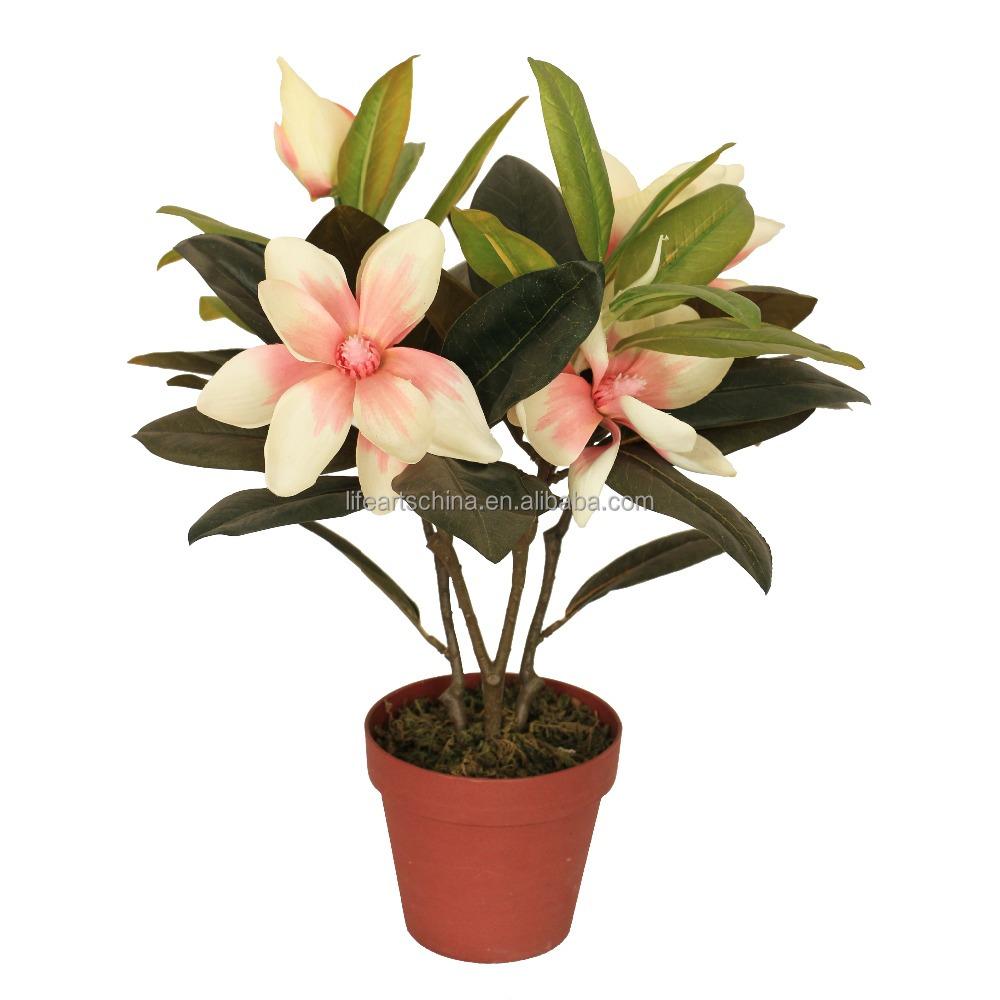 Artificial 40cm Magnolia Flower Bonsai Tree Buy Artificial Flower Magnolia Flower Flower Tree Product On Alibaba Com