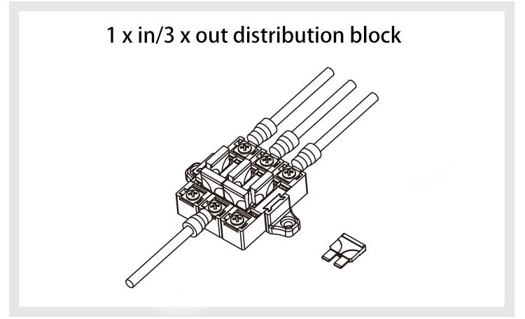 automotive fuse block vehice car audio assembly