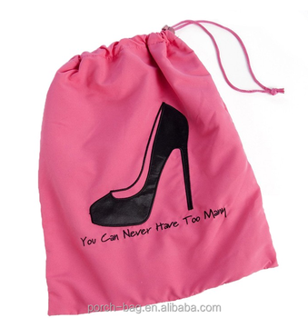 Manufacturer Delicate Dance Shoe Bags Stylish Personalized Drawstring Bag With Two Color