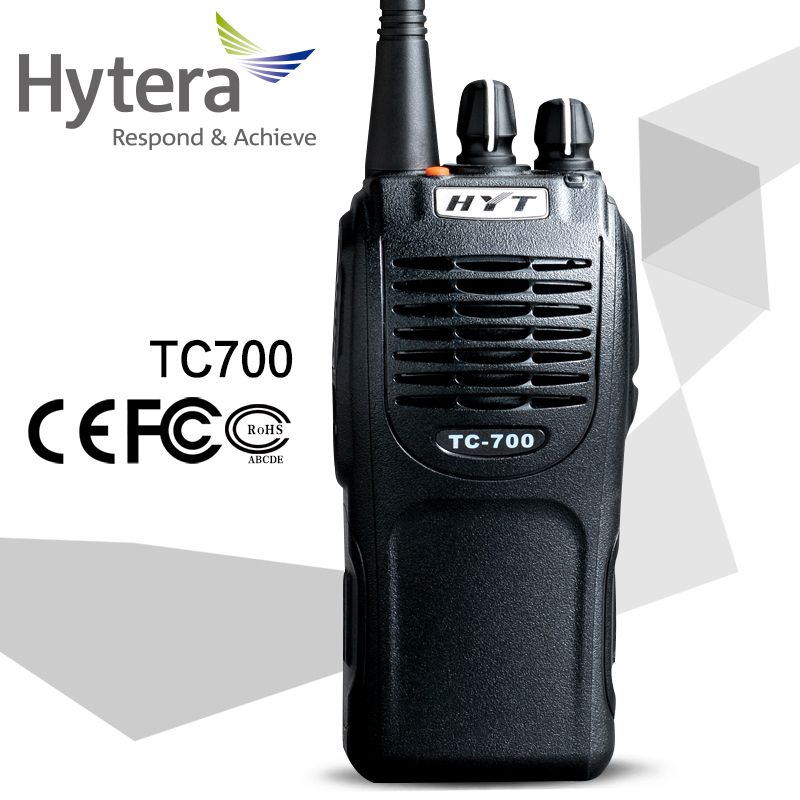 Hytera hyt tc-700 handheld walkie talkie with dock-charger 25km long range