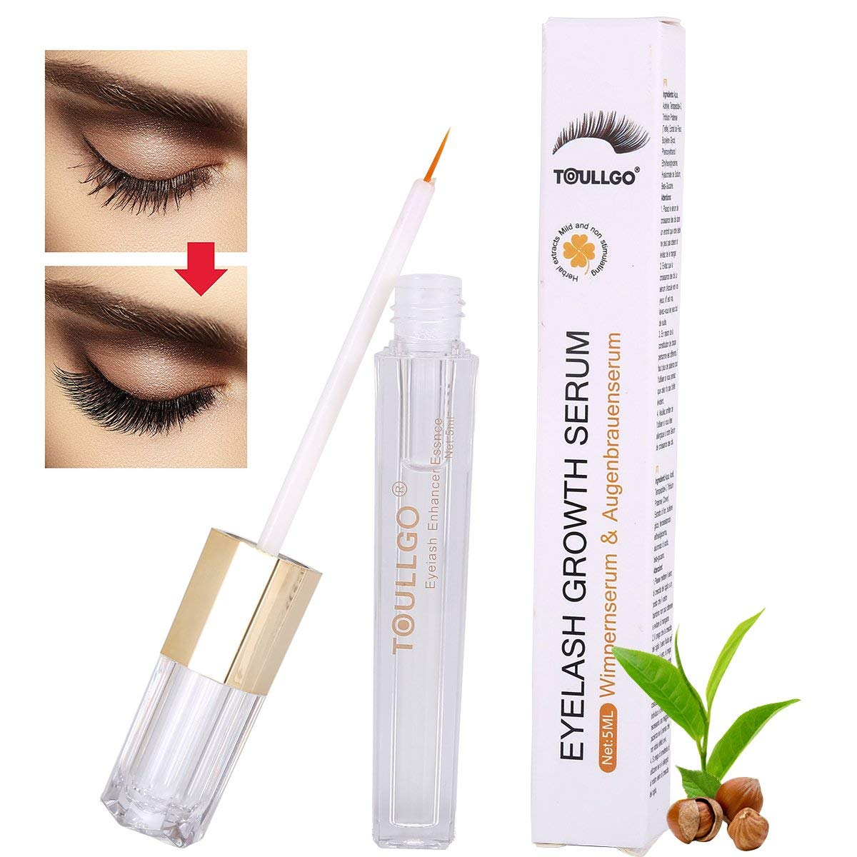 aa55d6595a0 Get Quotations · Eyelash Enhancer, eyelash growth serum, Lash & Brow  Booster Serum, Eyelash Growth Enhancer