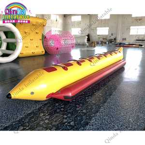 0 9mm pvc inflatable flying bananawater tube towable,8 persons inflatable  banana boat for sale