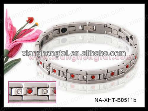 Red and Clear CZ bio mangetic bracelets