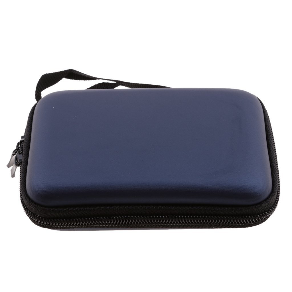 Dovewill 2.5 inch Portable Universal Multi-functional Digital Storage Bag Electronic Accessories Cable Organizer Bag Carrying Case Organiser bag Dark Blue