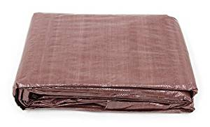 18' x 24' Brown Poly Tarp Cover, Water Proof Tent Shelter Camping RV Boat Tarpaulin