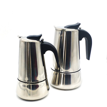 Factory price custom logo stainless steel stove top espresso maker