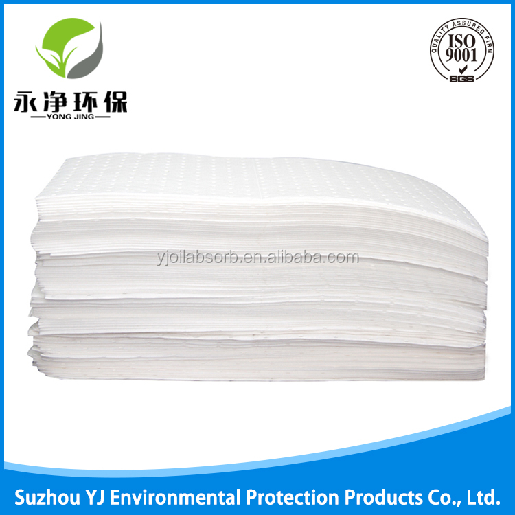 100% Polypropylene White Oilonly Absorbent Pads