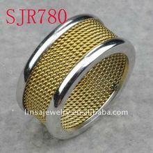 Fashion Male Jewelry Gold Plated Stainless Steel Rings