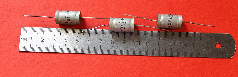 Capacitor PETP K73-16 100V 0.47uF  USSR Lot of 20 pcs