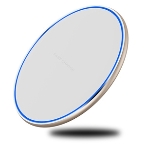 2018 new items super thin colorful led qi wireless mobile charger, fast wireless charger