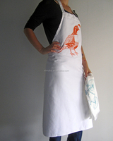 Professional hot selling promotional canvas art apron for adults with custom logo