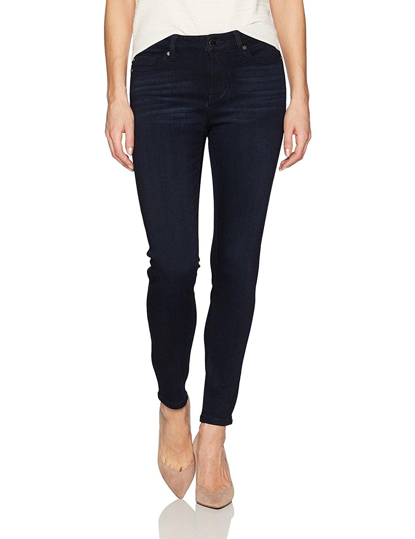 Liverpool Jeans Company Women's Petite Abby Skinny 5 Pocket Mid Rise Super Soft Stretch Denim