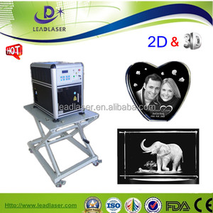 small size laser graphics 3d picture making machine for drawing glass laser 3d in shopping mall kiosk for gifts