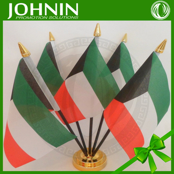 Silk Screen Printing Polyester Plastic Sticker Table Kuwait Flag - Buy  Table Kuwait Flag Product on Alibaba com