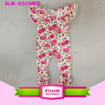 0a9be011c1bb Wholesale Icing Ruffle Bodysuit Floral Flutter Sleeve Ruffle ...