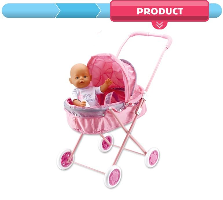 Murah 42 cm kehidupan seperti kencing silicone bayi gadis bermain set  mainan kereta dorong untuk boneka b984b121ce