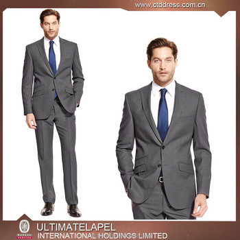 2015 New Arriving High End 100% Wool Grey Korean Style Suits For ...