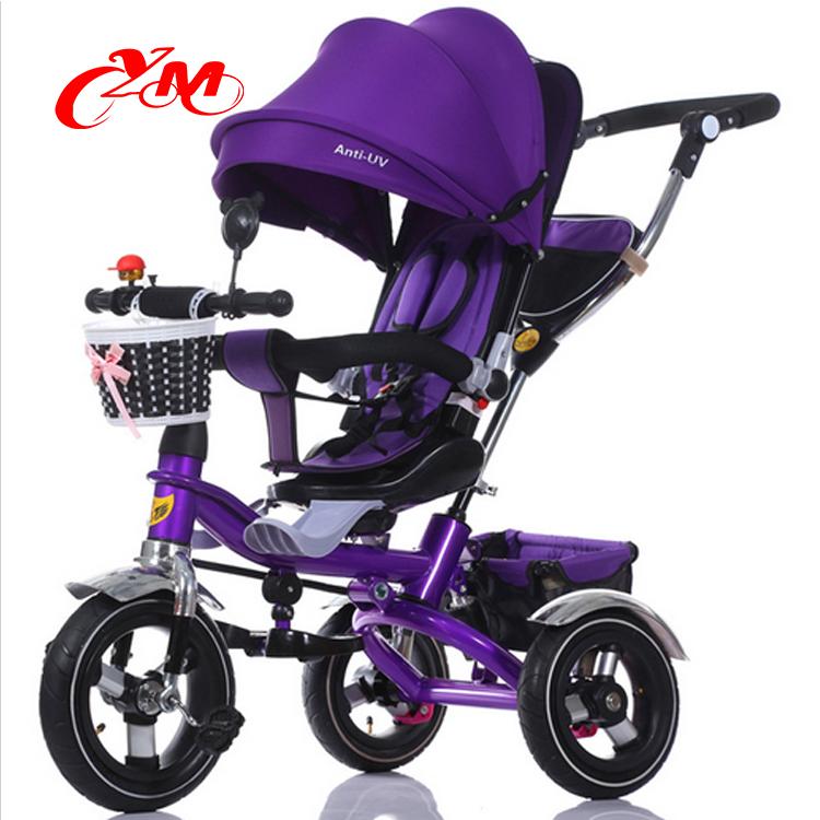 2016 fábrica dirigido Crianças Triciclo Do Bebê/Novos produtos Crianças Triciclo com punho de empurrar/Kids 3 roda Triciclo para venda