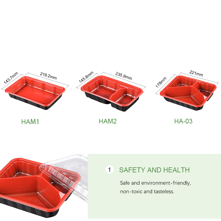 Easy Green Microwavable To Go PP Plastic Disposable Lunch Container With Lid