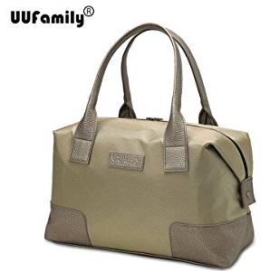 UU Family 2016 Oxford Autumn Travel Bag Weekend Bag Large Capacity Overnight Bag Men Waterproof Bag Women Duffel Travel Tote (bronze L)
