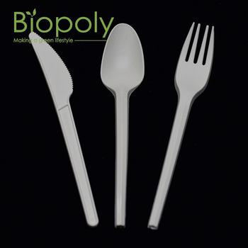 Biodegradable disposable plastic cutlery/knife/spoon/fork for dessert