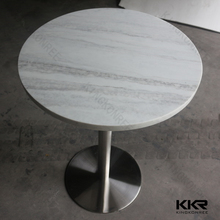 Round artificial stone top dining tables