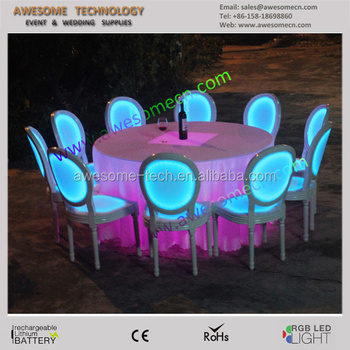 Color Changing Perspex Event Rental Stacking Ghost Chair