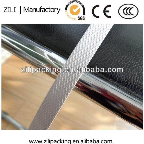 Carton PP strip strapping band Chinese supplier 10kg/roll embossed surface