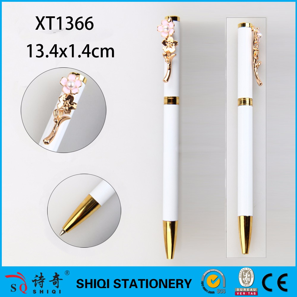 Oriental cherry pearl Pink business neutral fashion female felt tip birthday metal ball pen