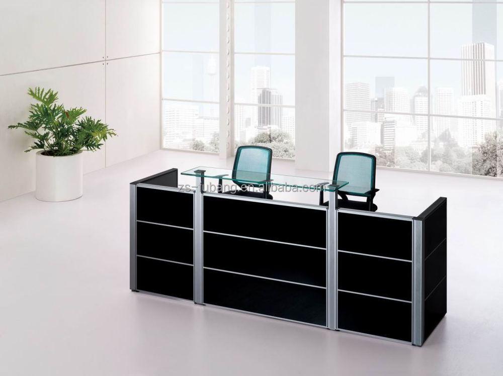 black color furniture office counter design. high class black oak wood gym hotel office reception front desk counter design color furniture f