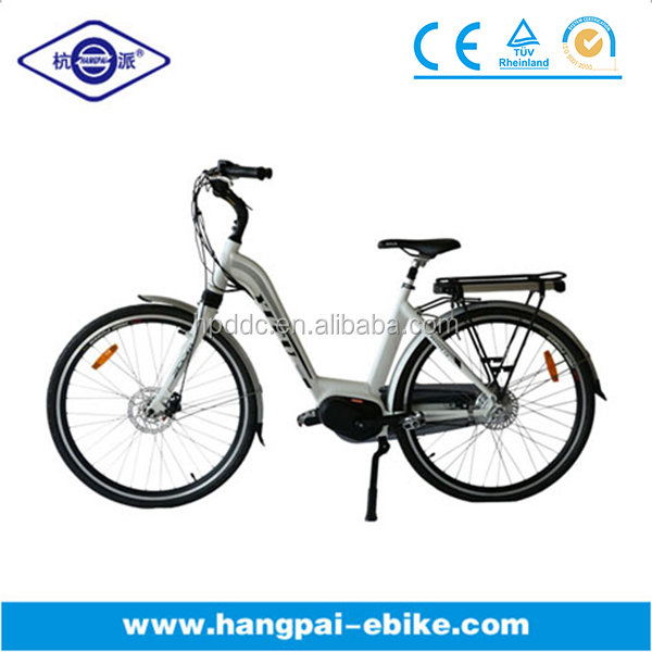 CE 28' 28 inch wheel lady rear nexus inner 3-gear derailleur mid position Bafang 8FUN motor electric bicycle bike