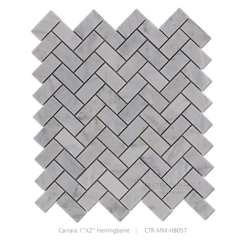 Gray Herringbone Carrara White Marble Mosaic Kitchen Floor Tile Buy Kitchen Floor Tile Herringbone Living Room Floor Tiles White Marble Mosaic Living Room Floor Tiles Product On Alibaba Com